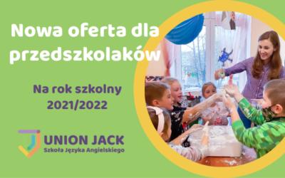 Nowa oferta kursów angielskiego dla przedszkolaków na 2021/2022